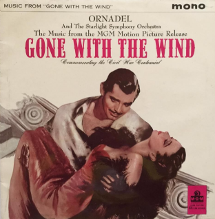 Cyril Ornadel & The Starlight Symphony Orchestra ‎- Music From Gone With The Wind (LP) (VG+/VG+)